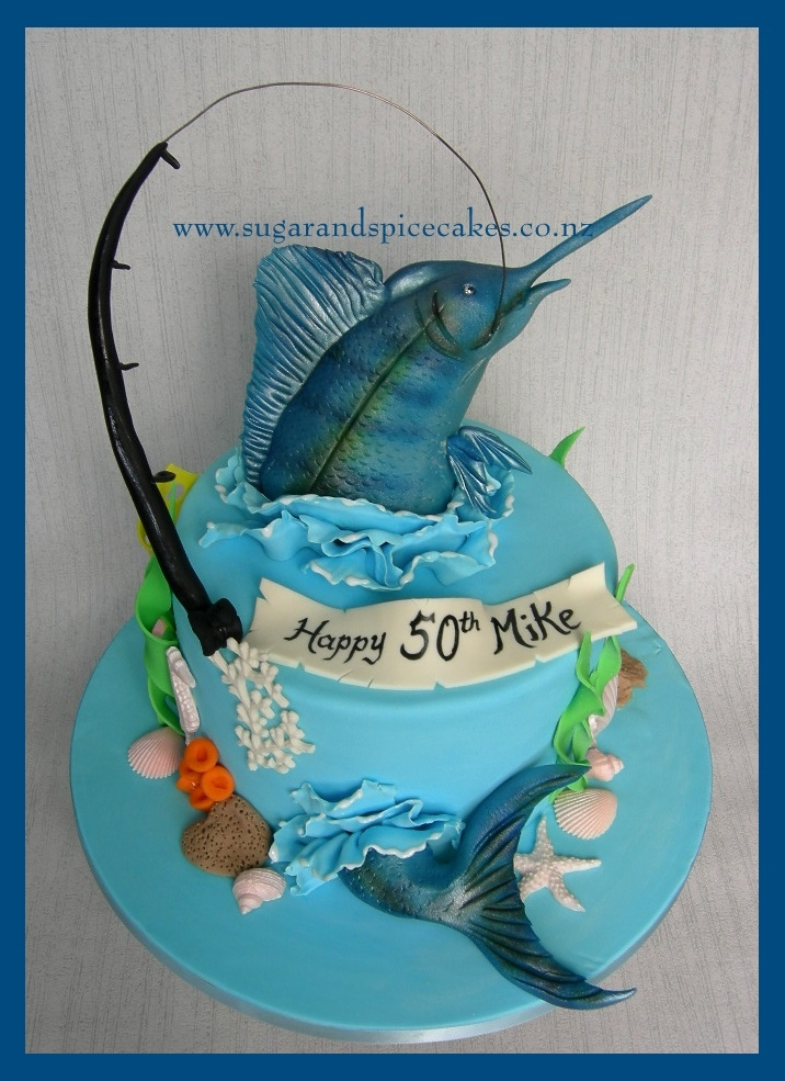Blue Marlin Fishing Cake CakeCentralcom