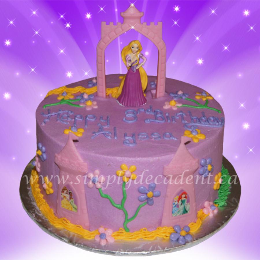 Disney Tangled Rapunzel Decopac Birthday Cake Cakecentral
