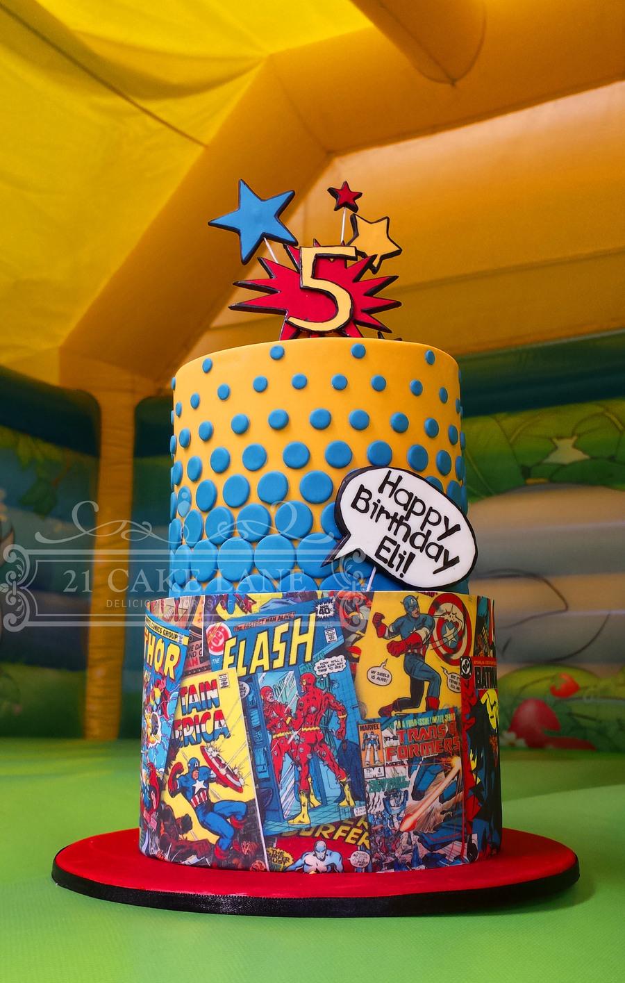 Comic Book Cake Cakecentral Com