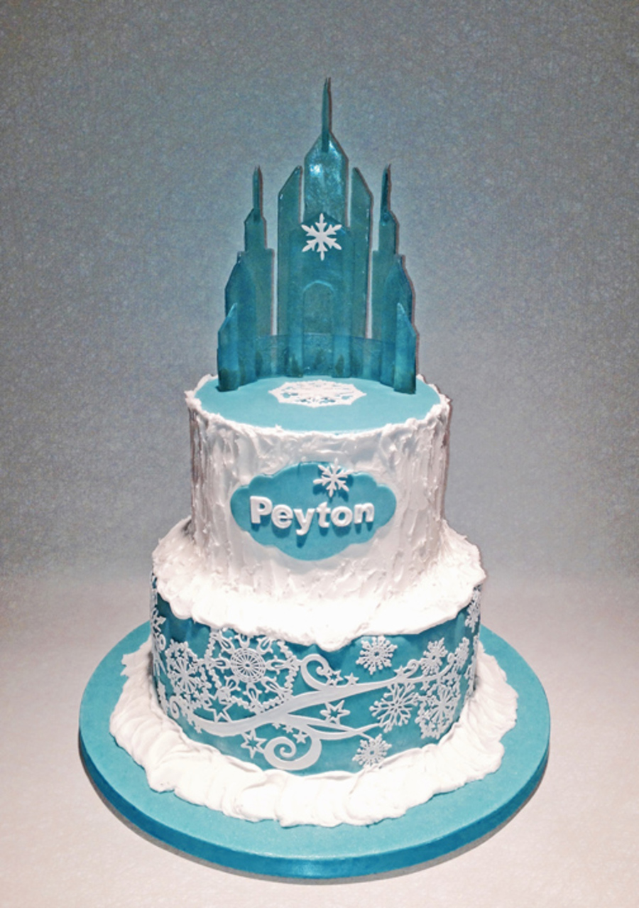Frozen Cake With Isomalt Castle Cakecentral Com