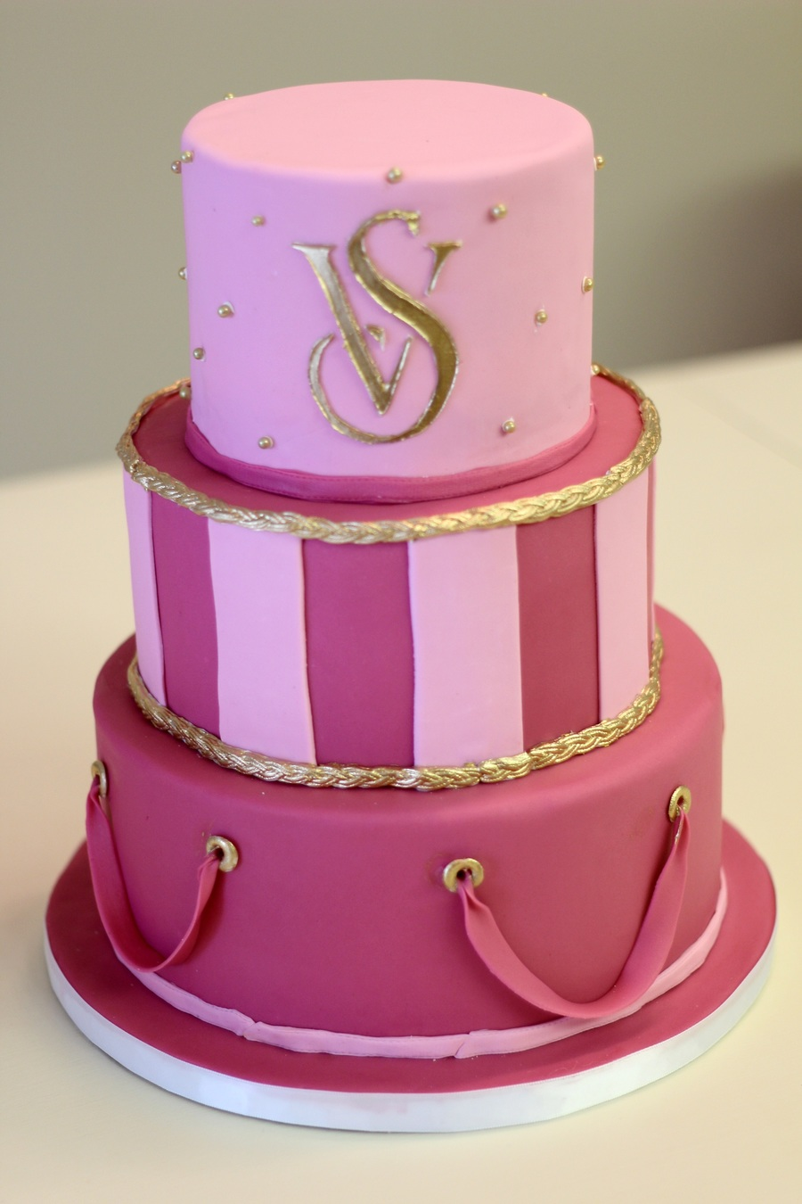Victorias Secret Pink  Birthday Cake