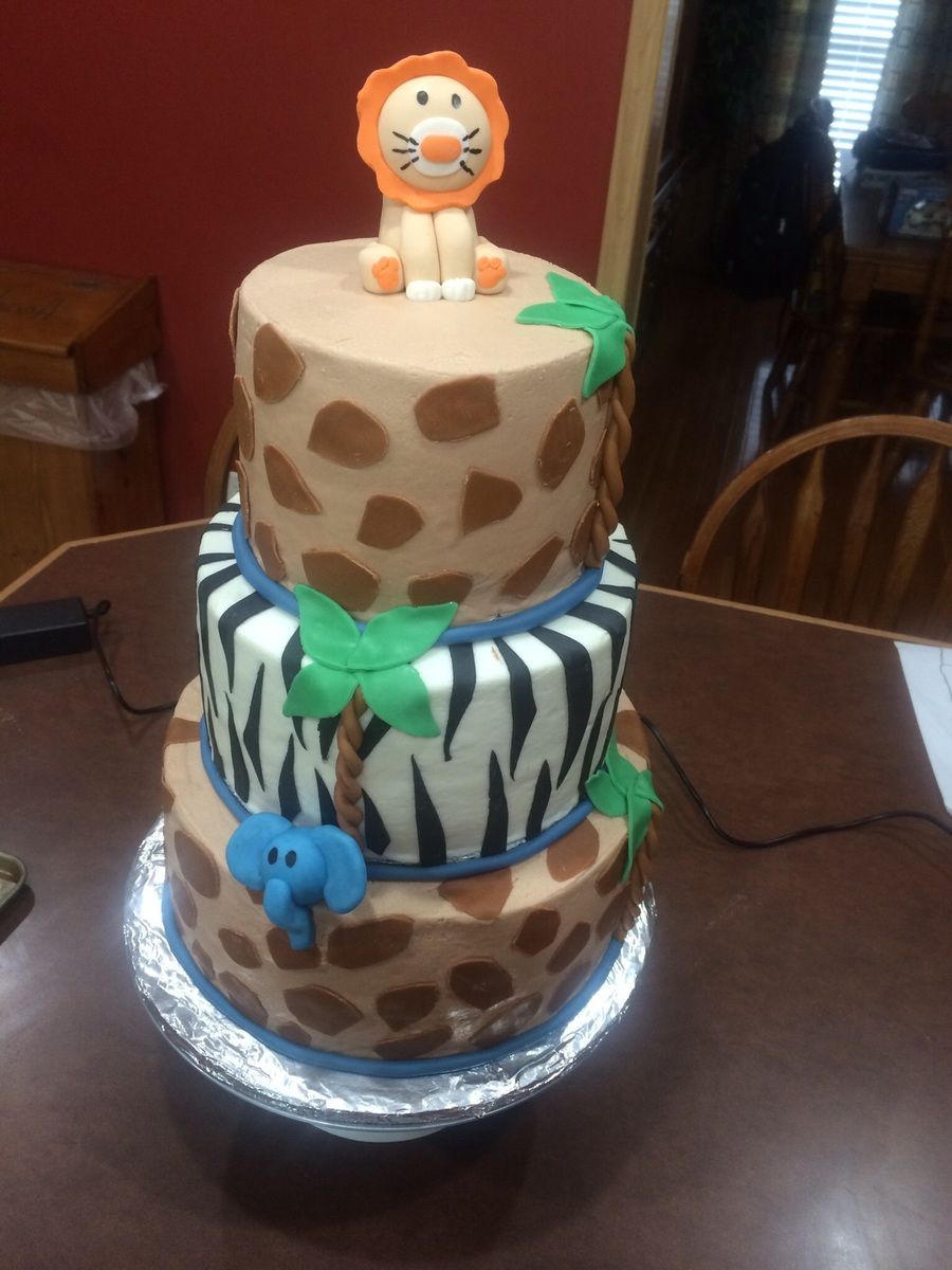 Tiered Animal Baby Shower on Cake Central