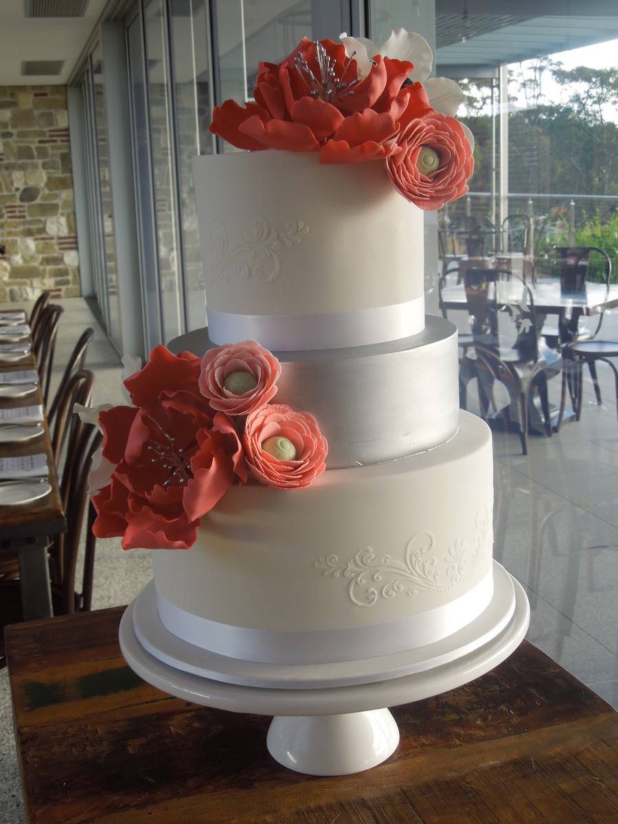 Giant Peony And Ranunculus Cake on Cake Central