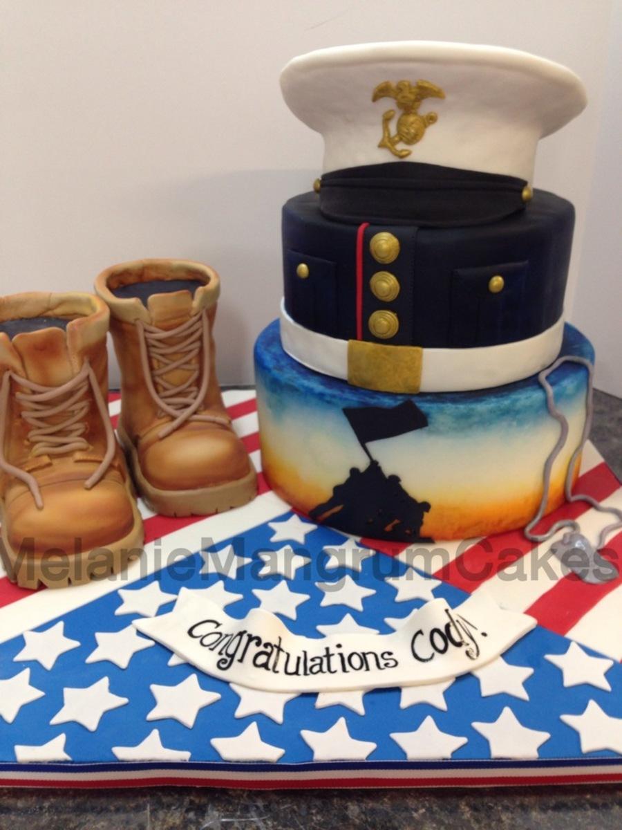Marine Birthday Cake Design