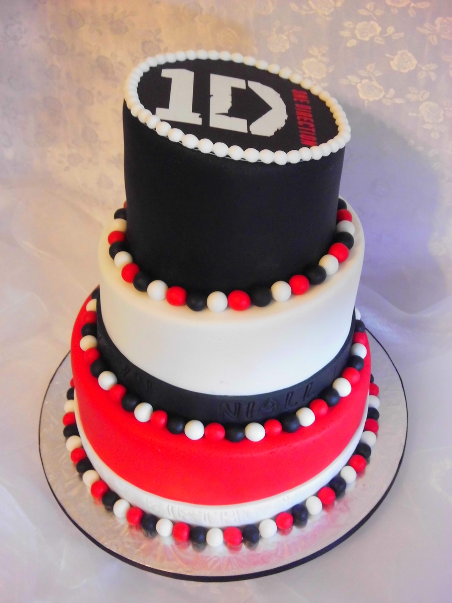 One Direction Topsy Turvy Cake On Central