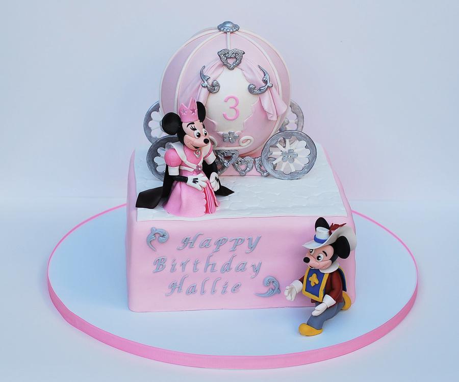 Stupendous Princess Minnie Sir Mickey Birthday Cake Cakecentral Com Personalised Birthday Cards Vishlily Jamesorg