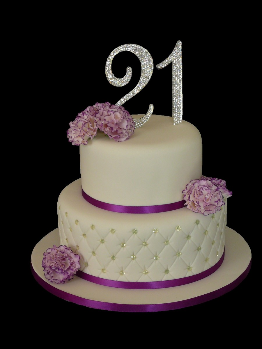 Quilted Cake With Gum Paste Carnations Cakecentral Com