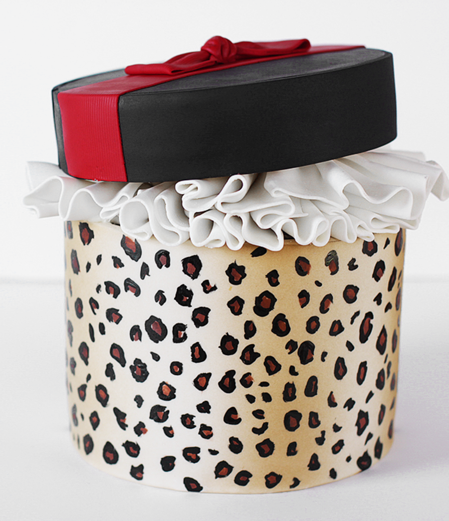 Leopard Print Gift Cake on Cake Central