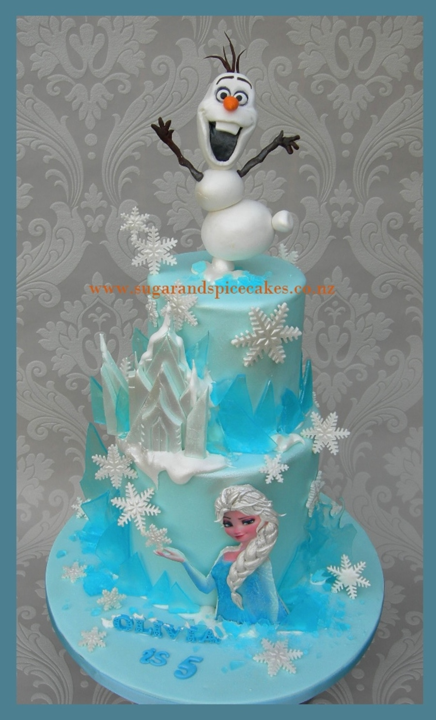 Frozen Themed Cake - CakeCentral.com