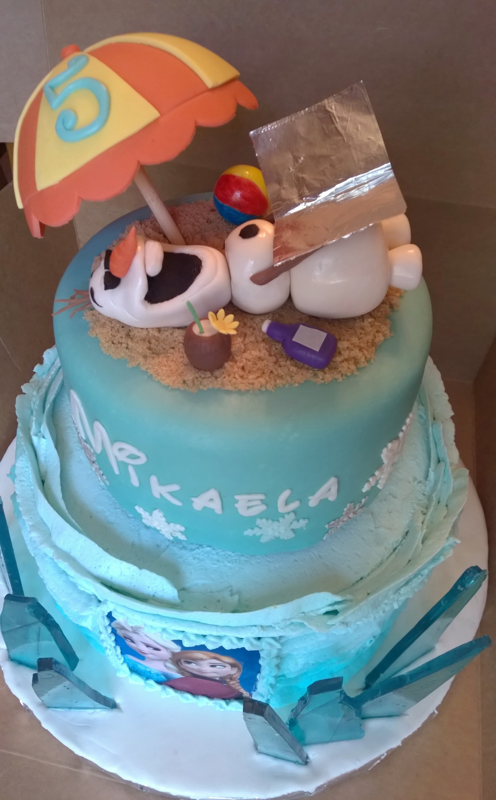 Olaf In Summer Frozen Cake Cakecentral
