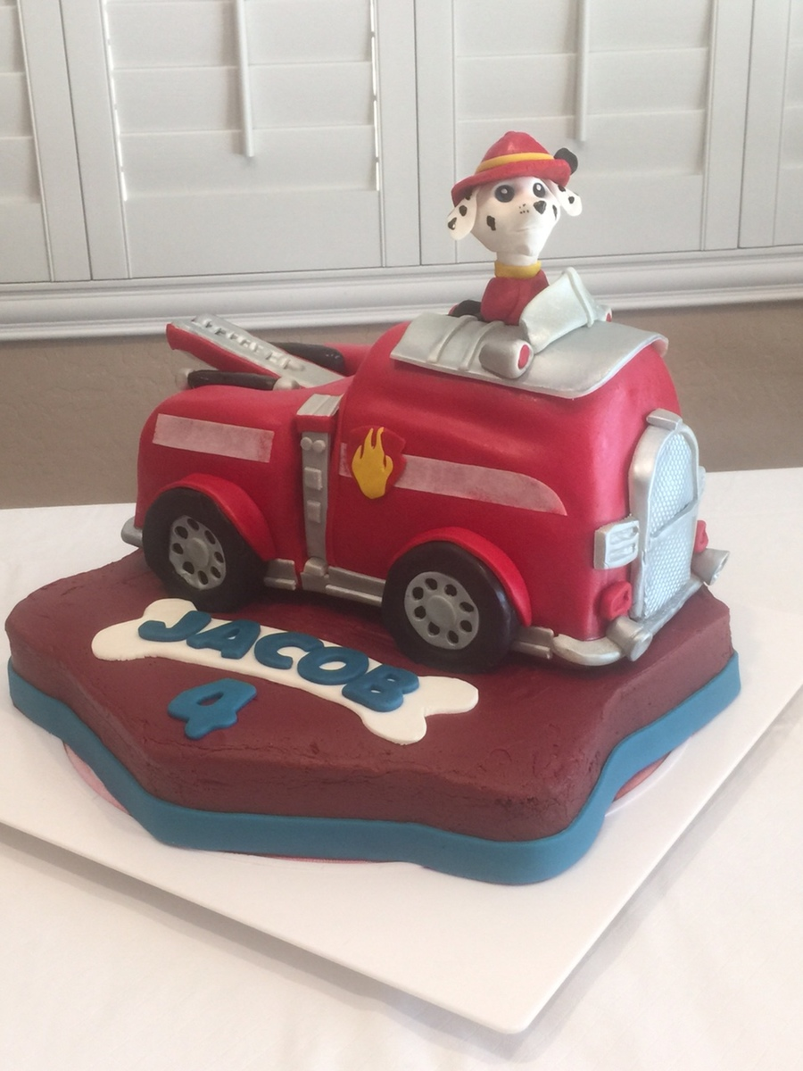 Paw Patrol Fire Truck Cakecentral Com