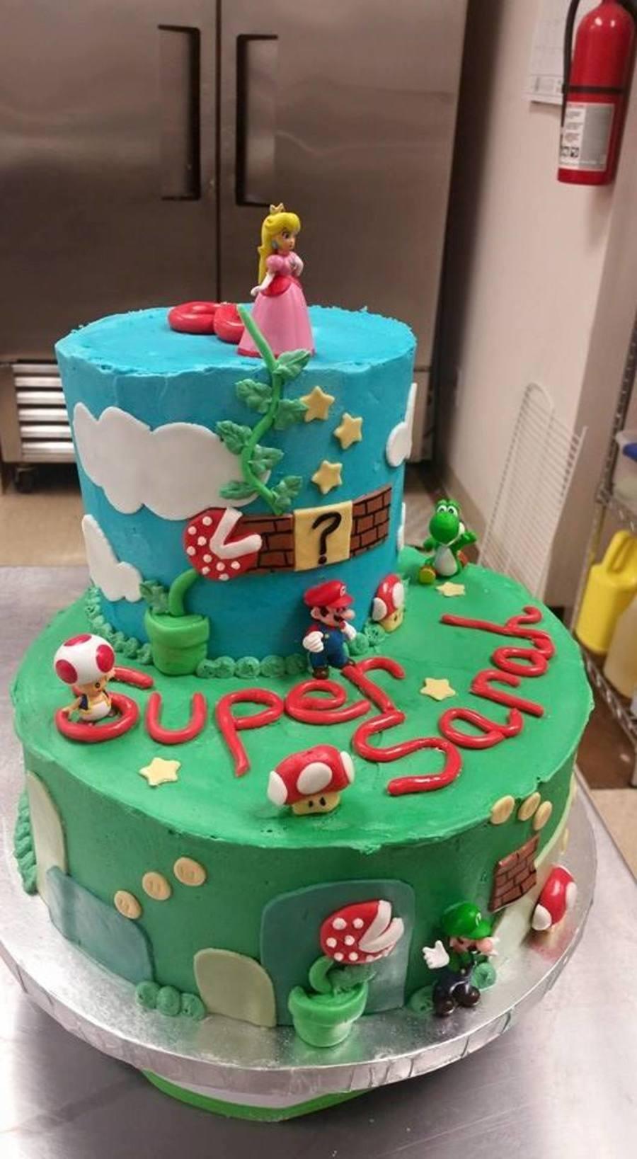 Super Mario Birthday Cake Cakecentral