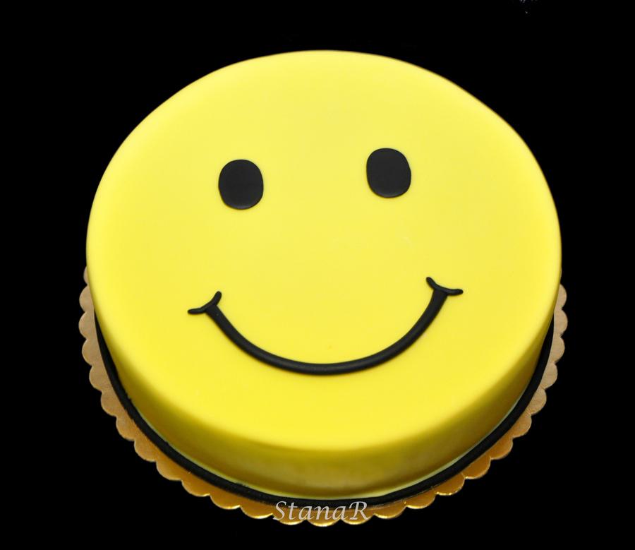 Smiley Birthday Cake