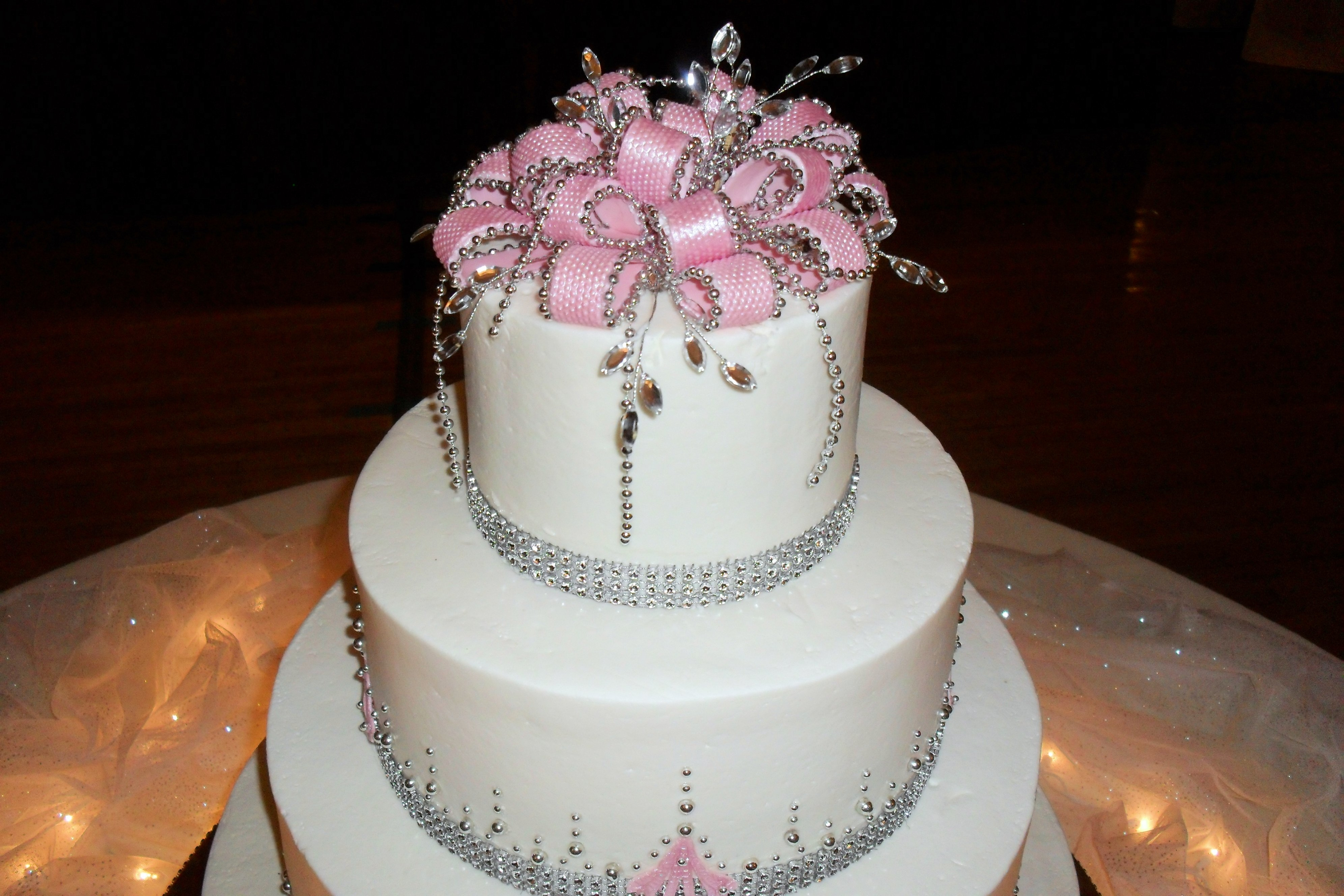 Pink And Silver Bling CakeCentral