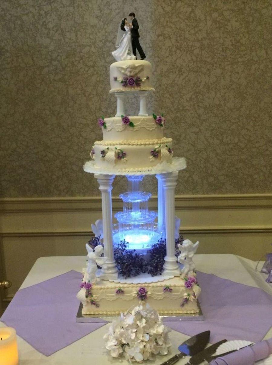 Moonlit Fountain Wedding Cake Cakecentral Com