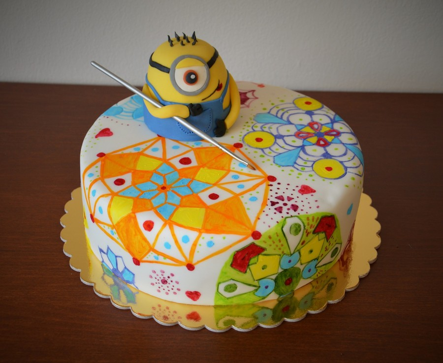 Minion And Mandalas on Cake Central