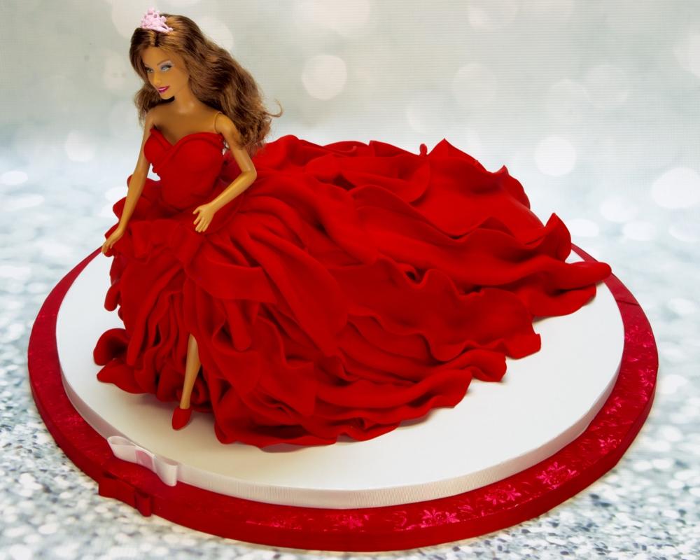 Barbie Fondant Cake Recipe
