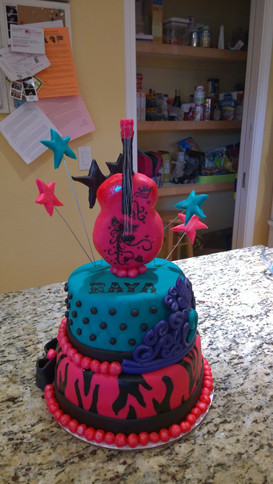 Rockstar Princess Birthday Cake Cakecentral