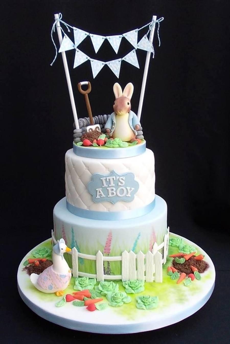 Beatrix Potter Baby Shower Cake Cakecentral Com