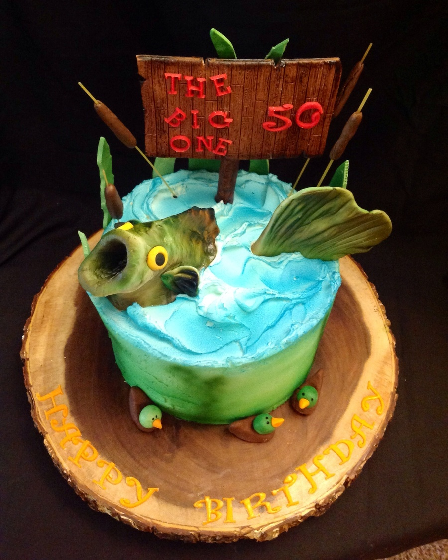 Bass Fish Decorated Cakes