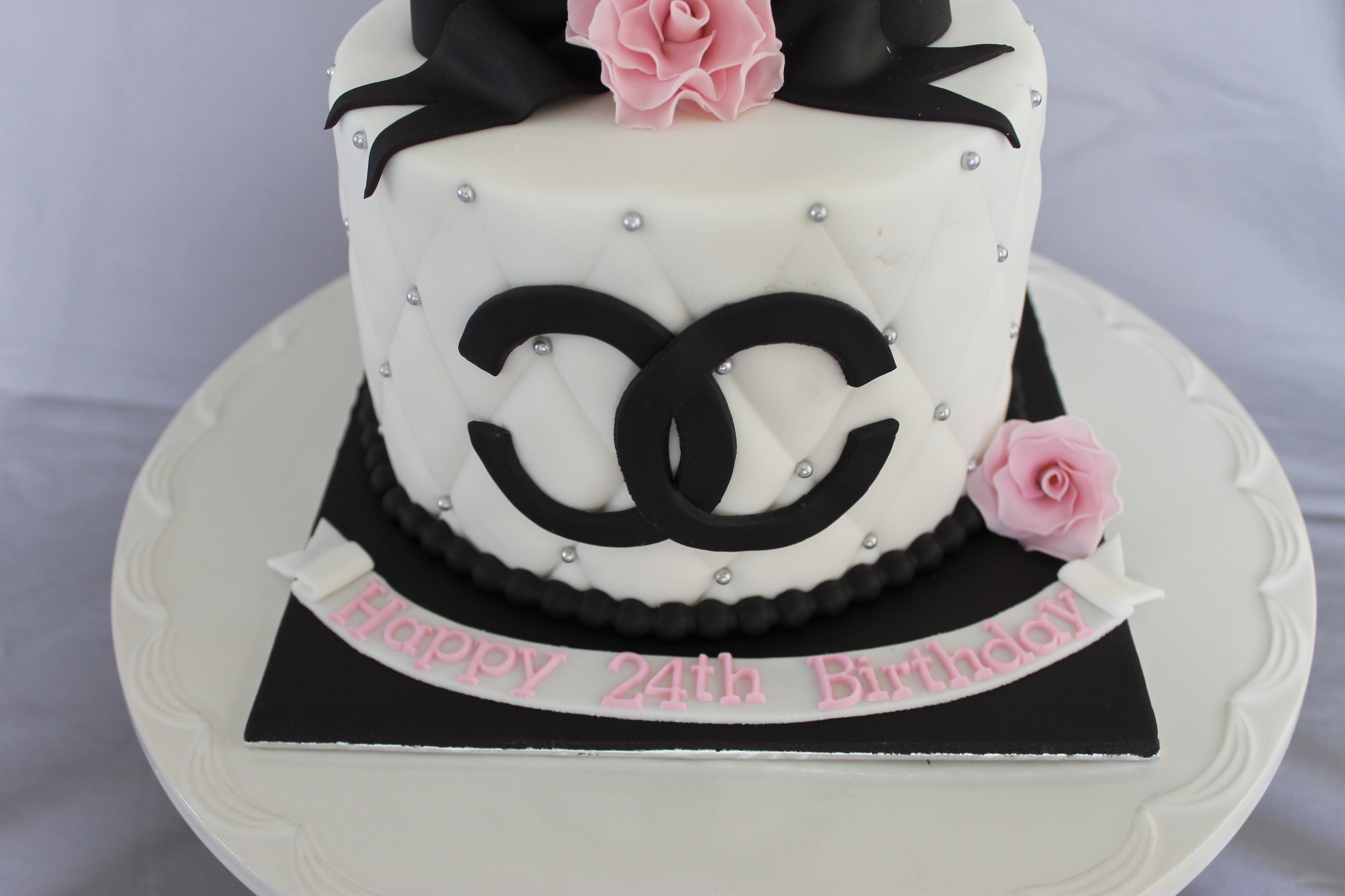Chanel Birthday Cake - CakeCentral.com