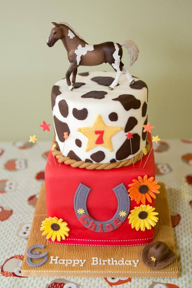 Cowgirl Horse Riding Birthday Cake Cakecentral Com