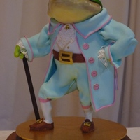Sir Frog Rice bubble cake and modelling chocolate from a class with Karen Portaleo