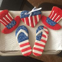 Patriotic Cookies   Independence Day decorated cookies. Tutorial at