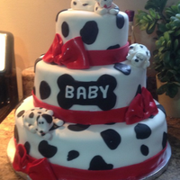 101 Dalmation baby shower cake