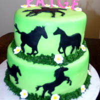 Horse Cake hand made sillouettes