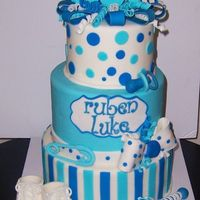 Baby Shower Cake for my nieces new baby boy ruben luke