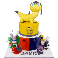 Pokemon! A huge pokemon cake, with lots of hand modelled characters for my sons 13th!!!