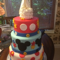 Baby Shower Cake 3 Tier cake, with Fondant in Micky Mouse Theme