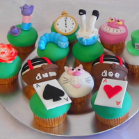 Alice In Wonderland Cupcakes Cupcakes for an Alice in Wonderlan themed party.