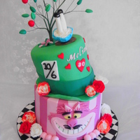 Alice In Wonderland Cake An Alice in Wonderland themed cake for a 30th birthday celebration with the same theme. The bottom tier was chocolate cake with chocolate...