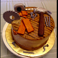 Wood Work Made this cake for my son-in-law's birthday. He has two passions: fishing and making things out of wood. I've made him...