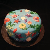 Under The Sea A friend's daughter was crazy for me to teach her how to decorate a cake. We settled on doing an under the sea theme (no movie...