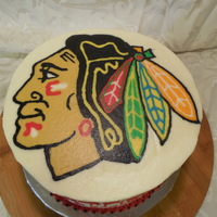 Chicago Blackhawks Cake Butter cream transfer