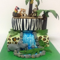 Children's Birthday Jungle Cake   6th Birtday Jungle Cake