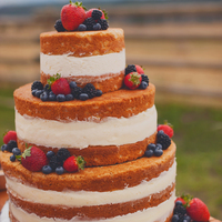 "With My Whole Heart - Country Inspired Creative Shoot This naked cake was the focal point of a sweets table I designed for a creative shoot entitled ""With My Whole Heart"". This shoot..."