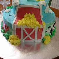 Barnyard Cake Barnyard cake for a 1 year old's birthday. Top tier was used as her smash cake.