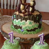 Chip N Dale Twins First 1st Birthday cake