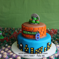 Ninja Turtles See more cakes on http://www.amobolo.blogspot.com