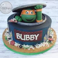 "Ninja Turtles I've made all of ""Bubby""s cakes since his 1st birthday. This year he picked Ninja Turtles and they gave me free reign over..."
