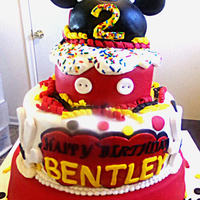 Mickey Mouse Cake   mickey mouse cake, all edible, fondant candle