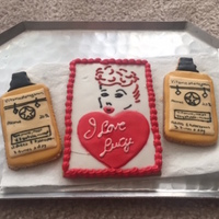 I Love Lucy Cookies   I Love Lucy decorated cookies. Video tutorial is at