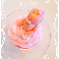 "Baby Girl Cupcake Topper A very special cupcake for a very special announcement ""It's a Girl"""