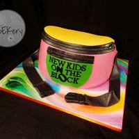 Nkotb Fanny Pack! This was a recreation of the lovely Mandy at All The King's Horses Cake Creations' cake for my sister in law. I used the Wilton&#...