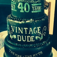 Chalkboard Cake 40th birthday chalkboard cake, hand painted fondant