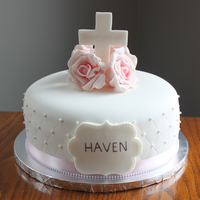 Christening Cake   Made this for a sweet little girls christening this weekend.